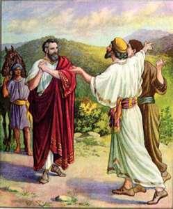 YESUS  DENGAN OFFICIAL YANG ANAKNYA SAKIT